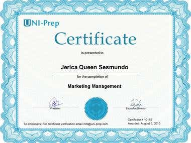 Marketing Management Certification - Uni Prep Canada