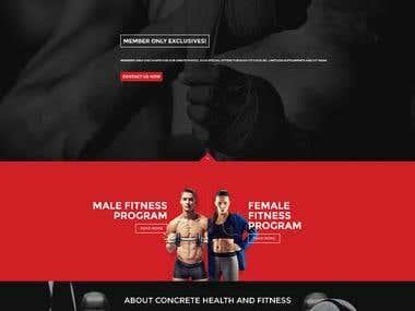 Concrete Empire -  Gym Website