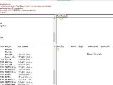 FTP server problem solving