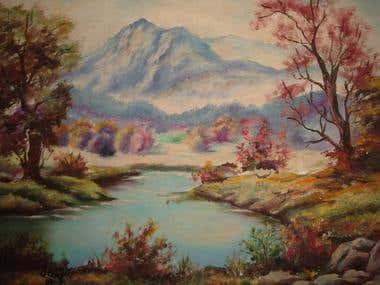 O lago e a montanha