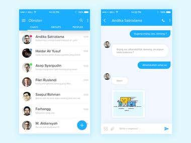 Chat App Mobile Design