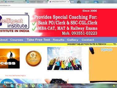 Educational institute website