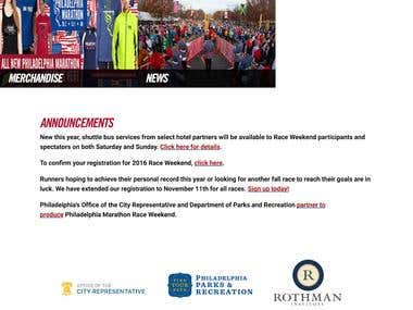 Drupal based Marathon Portal