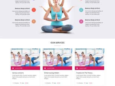 Yoga and Fitness Website