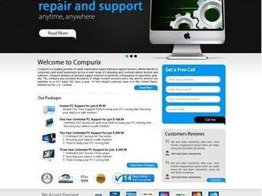 Compurix Wordpress CMS website