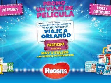 Sitio Web de promoción Huggies
