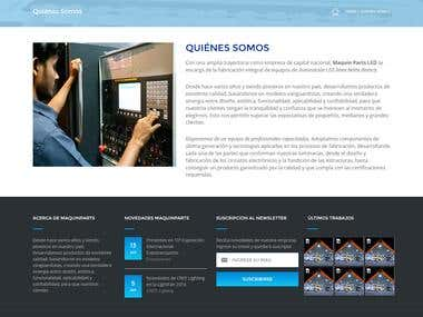 Maquetación & Diseño de sitio Web