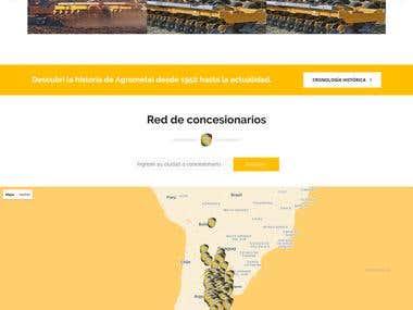 Maquetación de Sitio Web corporativo