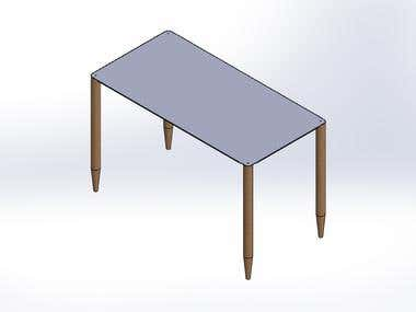 Table with wood legs