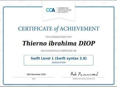 CCA  certification swift LEVEL 1