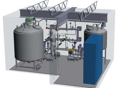 Food processing, beverage, pharma equipment, tank, skid,pipe