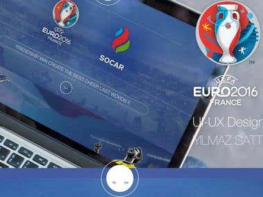 Socar official sponsor of UEFA Euro 2016 / Ui-Ux Dsign