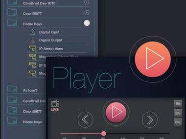UI-UX DESIGN- Cubitech Video Software UI UX
