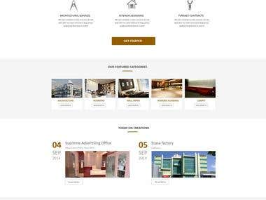 Intrerior Decorator Company website design
