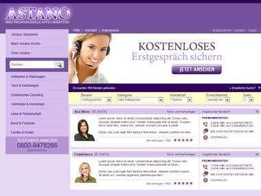 Astano Website