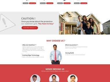 Home page design for company deals in Electrical items