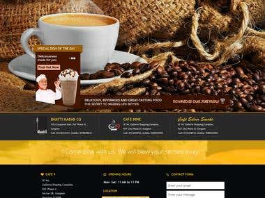 Complete site design for Restaurant