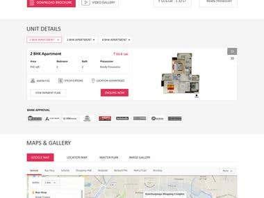 Real Estate Company Single page site