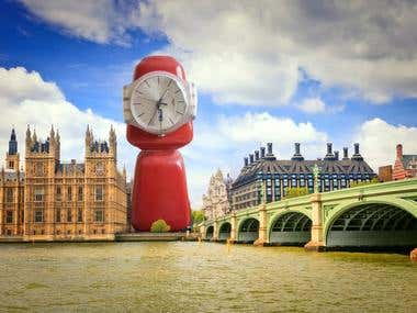 Big Ben out of household items