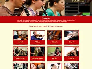Music School Website