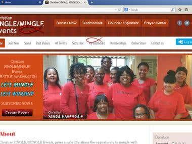 Latest work : Christiansinglemingleevents.com