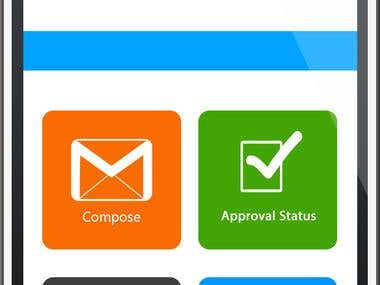 WinEmailClient Mobile application + Graphics design