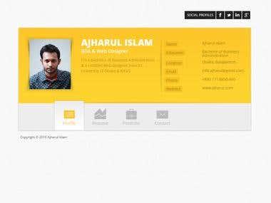 Portfolio website ajharul.com