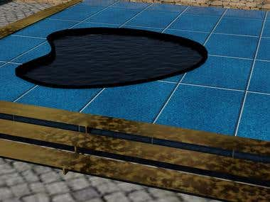 3d swimming pool by 3ds max