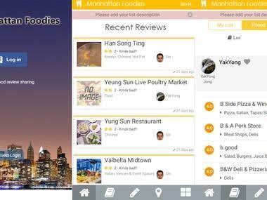 Manhattan -  Foodies Social App
