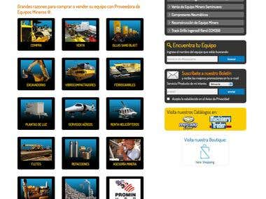 Diseño Web y Custom CRM PROMIN