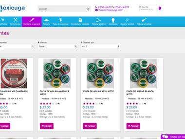 Desarrollo de tienda online a medida Grupo Mexicuga