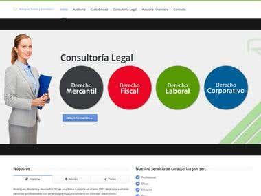 Diseño Web para Despacho de Contadores Rodriguez Rodarte