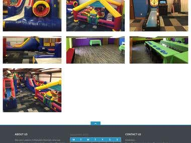 Lawton Inflatable Rentals Official Website's Proposed Design