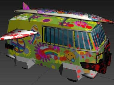 low poly vehicles for a zombie killing game on a mobile dev