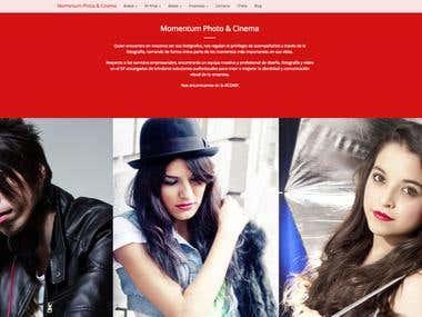 Diseño Web Momentum Photo & Cinema