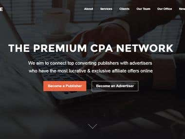 Affiliate Website For A CPA Network Client
