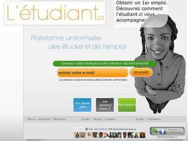 L'étudiant.ci Pre - register website