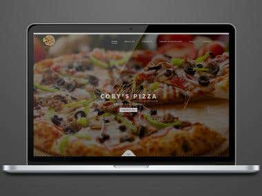 Coby's Pizza | Work in Wordpress