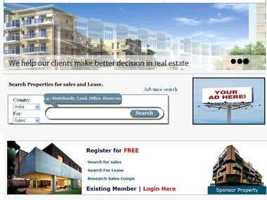 Real Estate Web Portal (Sales/Lease)