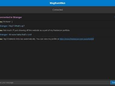 MsgSumWun - Online Stranger Chat Website