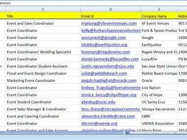 Linkedin Contact email research
