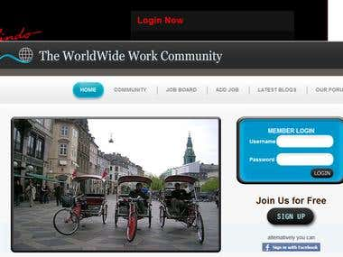 Worldwide Work - Website From Community Industry