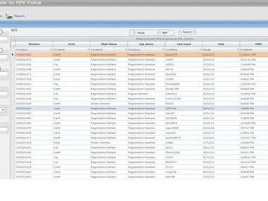 Vehicle Inquiry Center Software for KPK Law Enforceme