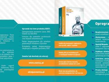 Flyer for ESET seller