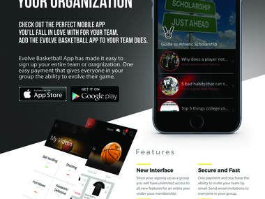 Evolve Basketball App team Flyer