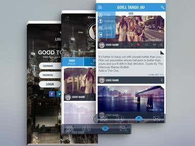 Flat Mobile UI
