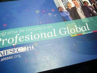 AIESEC's printed portfolio