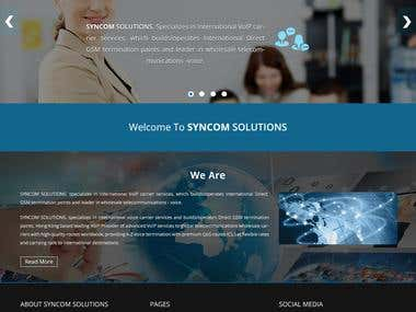 Syncom Solutions Web page mockup