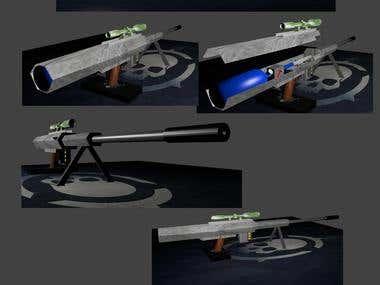 3d project of sniper rifles