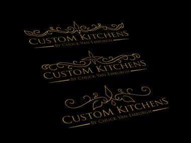 Logo Design For Custom Kitchen